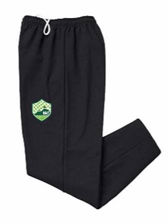 Open-bottom 50/50 sweatpants