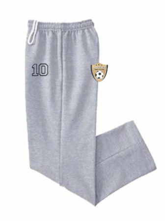 Open-bottom 50/50 sweatpants