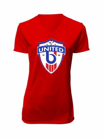 SIOUX(Unisex and Women's cut) SS V-NECK JERSEY - Red