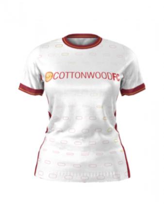 Admiral Women's and Girls Custom Jersey - Cottonwood Custom WHITE - Away