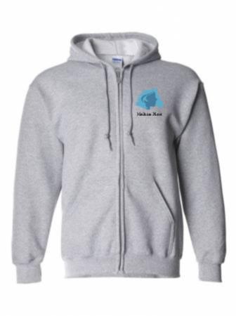 Unisex Full-Zip Hoodie 50/50