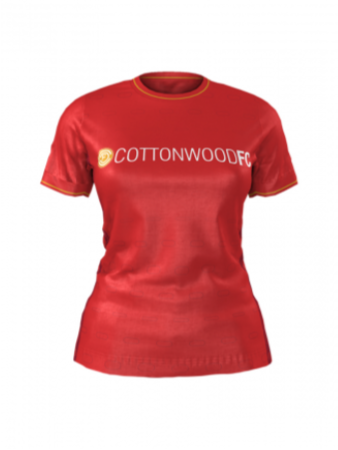 Admiral Women's and Girls Custom Jersey - Cottonwood Custom RED - Home