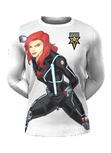 Admiral Black Widow Long Sleeve Character Tee