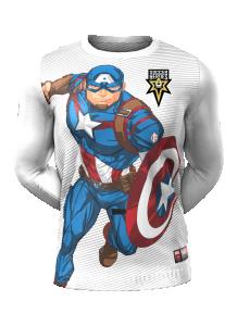 Admiral Captain America Long Sleeve Character Tee