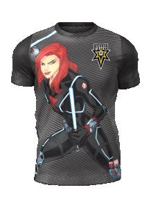 Admiral Black Widow Short Sleeve Character Tee