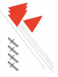 CORNER FLAGS SET OF 4plastic poles amp metal screw in peg