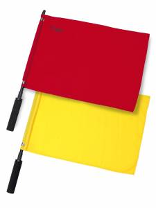 SOLID LINESMAN FLAG SET OF 2