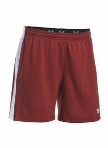 UA Women's Threadborne Match Short - Red